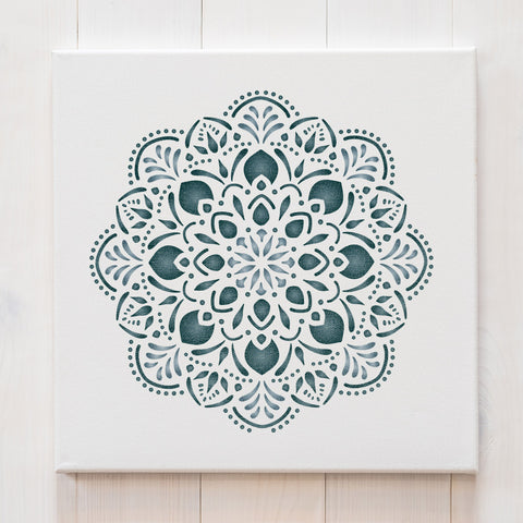 Craftstar Pushpa Mandala Stencil on canvas