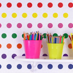 Small Polka Dot Seamless Pattern Stencil in Rainbow Colours