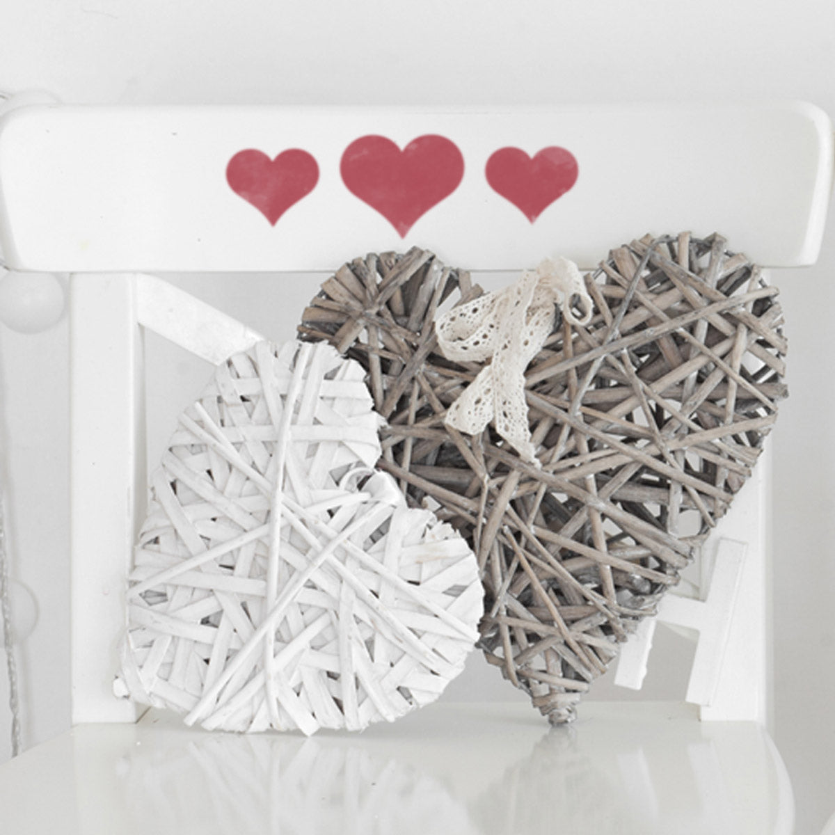 CraftStar Hearts Stencil Set on Chair