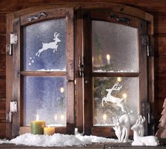 Small Reindeer Stencil - Christmas Window Decoration