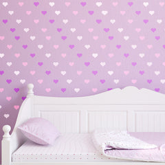 CraftStar Seamless Pattern Heart Stencil in Purples and Whites