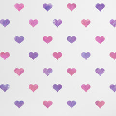 CraftStar Seamless Pattern Heart Stencil on Wall Close Up