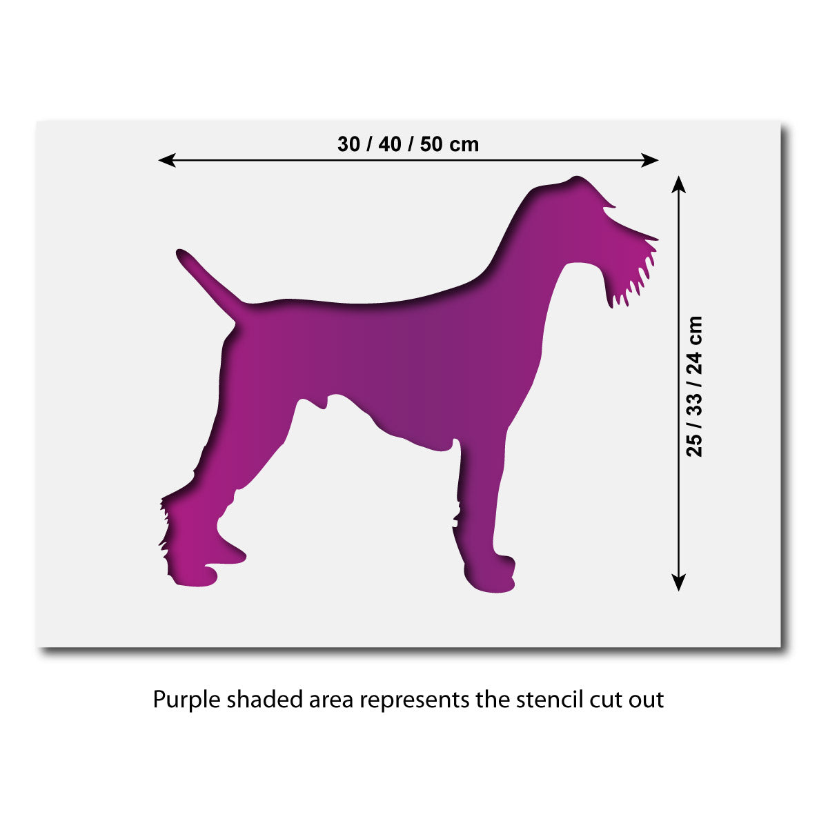 CraftStar Large Schnauzer Dog Stencil - Sizes