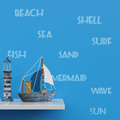 CraftStar Seaside Words Stencil - Nautical Theme Decor