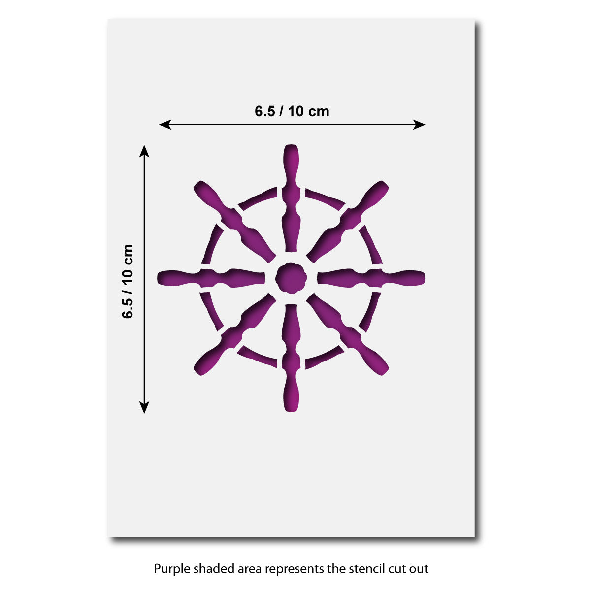 CraftStar Ship's Wheel Stencil