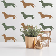 Dachshund Dog Stencil Set on Wall