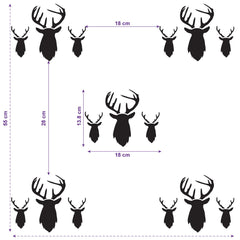CraftStar Stag Heads Repeating Pattern Stencil Layout