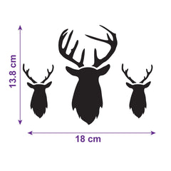 CraftStar Stag Heads Repeating Pattern Stencil Size Info