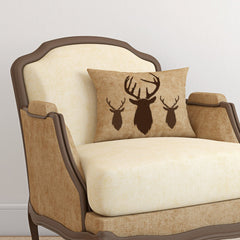 CraftStar Stag Head Stencil on Scatter Cushion
