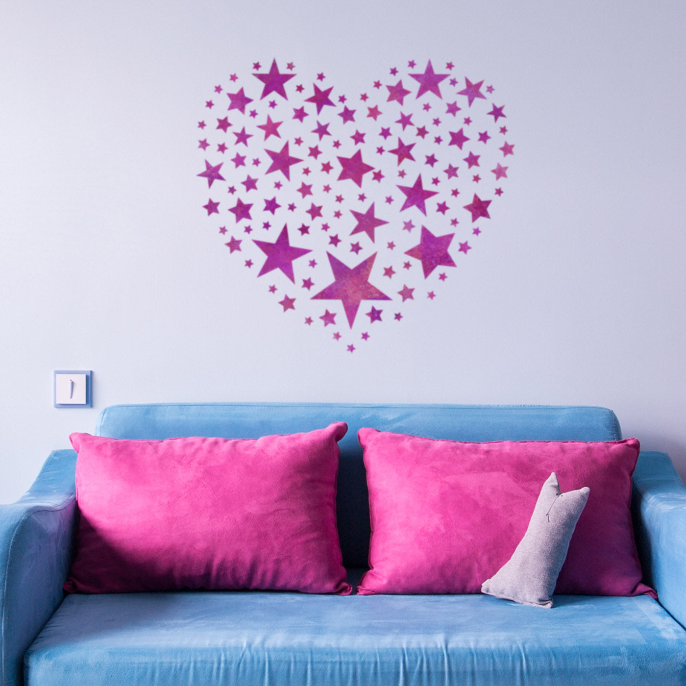 CraftStar Star Pattern Heart Stencil in Playroom