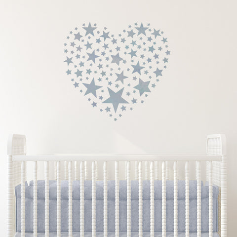 CraftStar Star Pattern Heart Stencil in Nursery