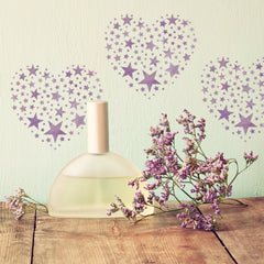 CraftStar Star Pattern Heart Stencil