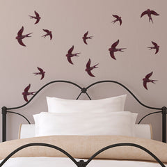 CraftStar Swallows Stencil Set