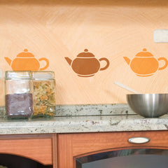 CraftStar Teapot Stencil - Kitchen Wall Border
