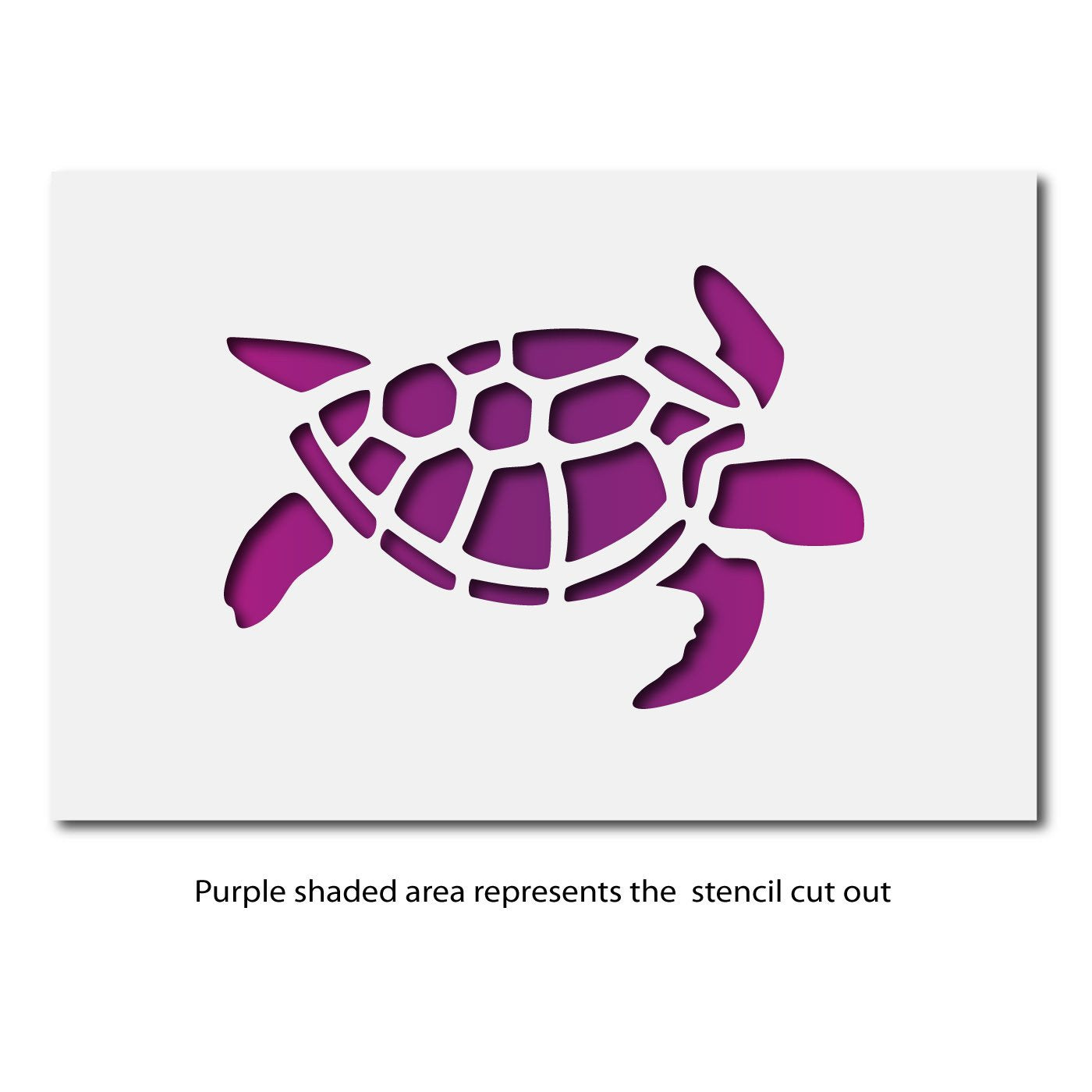 Craftstar Turtle Stencil Layout