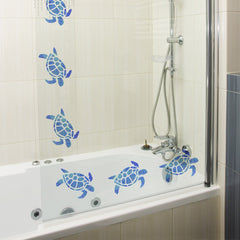 Craftstar Turtle Stencil on shower door