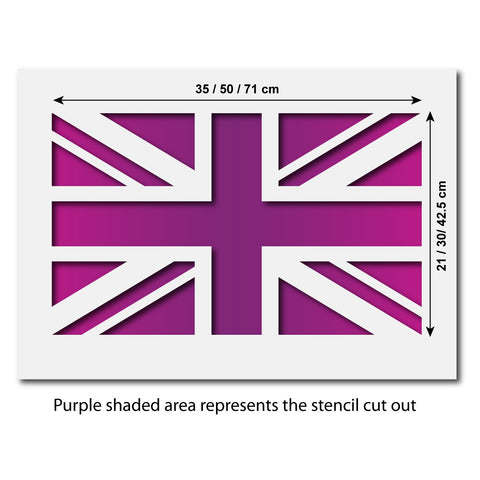 CraftStar Union Jack Stencil - Size Guide
