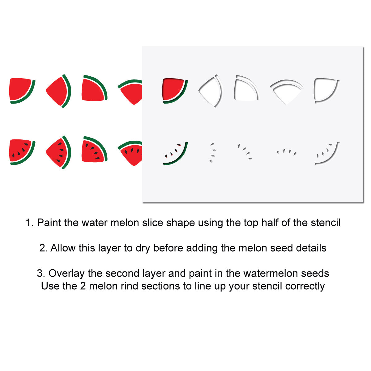 CraftStar Watermelon Border Stencil Alignment Guide
