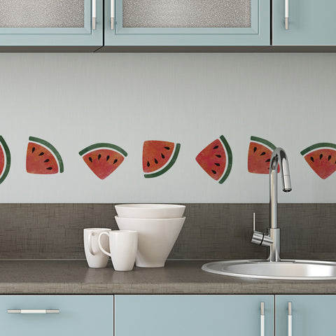 CraftStar Watermelon Border Stencil in Kitchen
