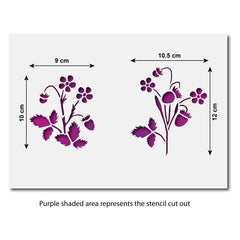 CraftStar Strawberry Plant Stencil Sizes