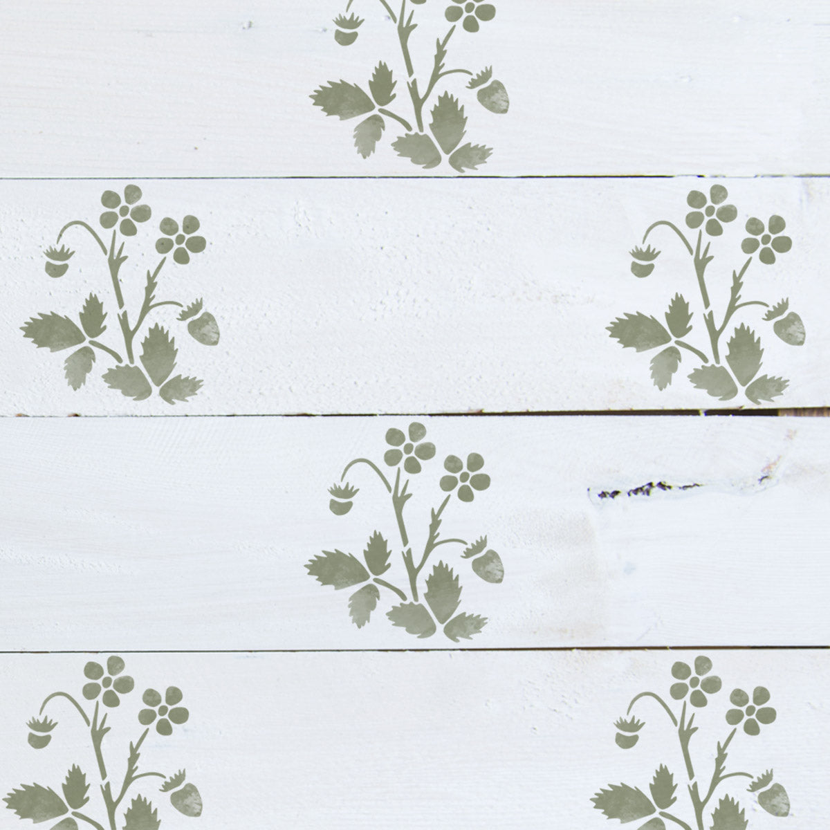 CraftStar Strawberry Plant Stencil Set
