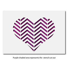 CraftStar Chevron Pattern Heart Stencil