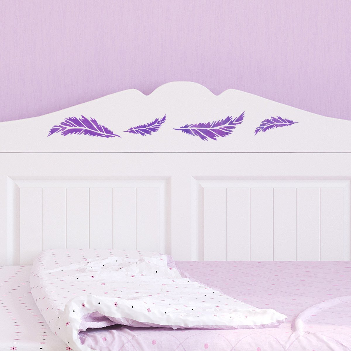 CraftStar Small Feather Stencil - Furniture
