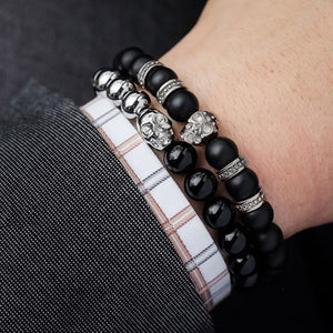 Stones and Skull Charm Bracelet - Cavemen Culture