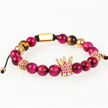 Crown Ball & Natural Stone Bracelets - Cavemen Culture