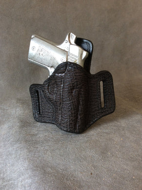 Kimber Micro 9 OWB Custom Shark and Leather Pancake Holster