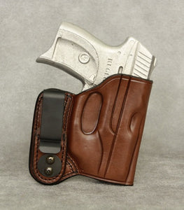 Ruger LC9 (LaserMax) IWB Leather Holster - Brown
