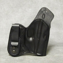 Ruger LC9 (LaserMax) IWB w/ Sweat Shield Leather Holster - Black