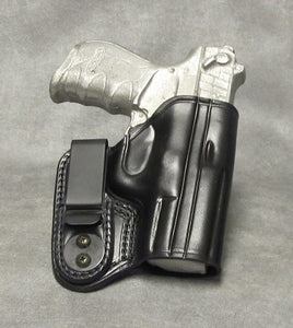 Walther PK380 IWB Leather Holster - Black