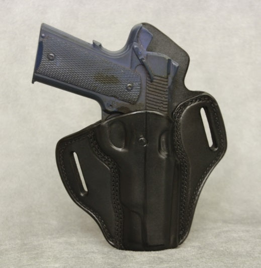 1911 Full Size Leather Pancake Gun Holster - Black