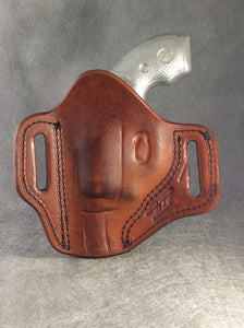 Smith & Wesson J Frame OWB Custom Leather Pancake Belt Holster