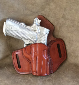 1911 Full Size with Rails OWB Custom Leather Pancake Holster