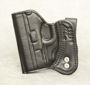 Springfield XDs IWB (Crimson Trace) Leather Holster - Black