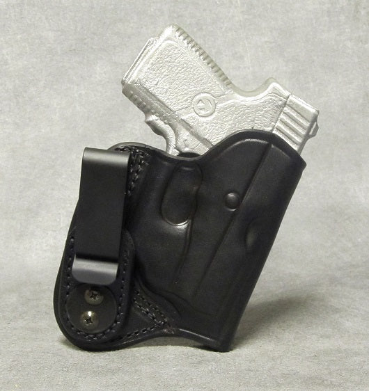 Kahr P380 (Crimson Trace) IWB Leather Holster - Black