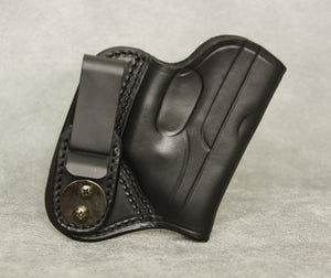 Ruger LCP (with Lasermax) IWB Leather Holster - Black