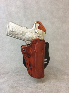 1911 OWB Full Size Custom Leather Paddle Holster w/Sweat Shield
