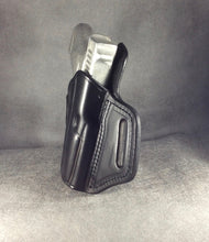 Glock 43x Crimson Trace OWB Custom Leather Pancake Holster by ETW Holsters