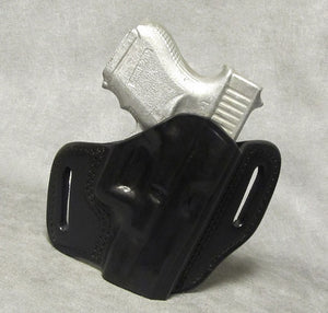 Glock 27 Leather Pancake Holster - Black