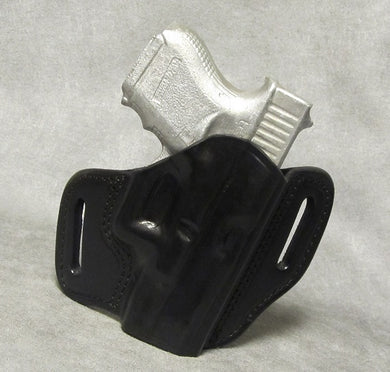 Glock 26 Leather Pancake Holster - Black
