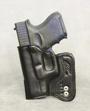Glock 26 IWB Leather Holster - Black