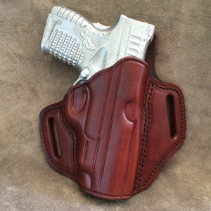 Springfield XD-S Two Slot Pancake (TSP) Leather Holster