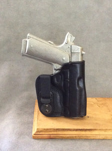 1911 Commander IWB Concealed Tuckable Custom Leather holster with Sweat Shield