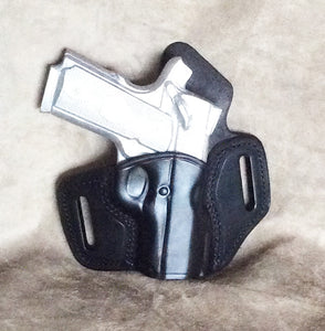 "Sig 1911 3"" Two Slot Pancake (TSP) Leather Holster-IN STOCK NOW"