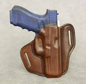 Glock 22 Leather Pancake Holster - Brown