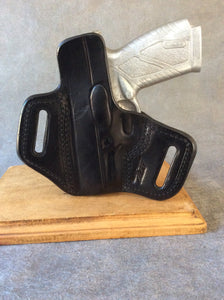 Bersa BP9CC OWB Custom Leather Pancake Holster