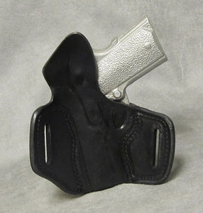 "1911 3"" Micro-Compact Two Slot Pancake (TSP) Leather Holster"